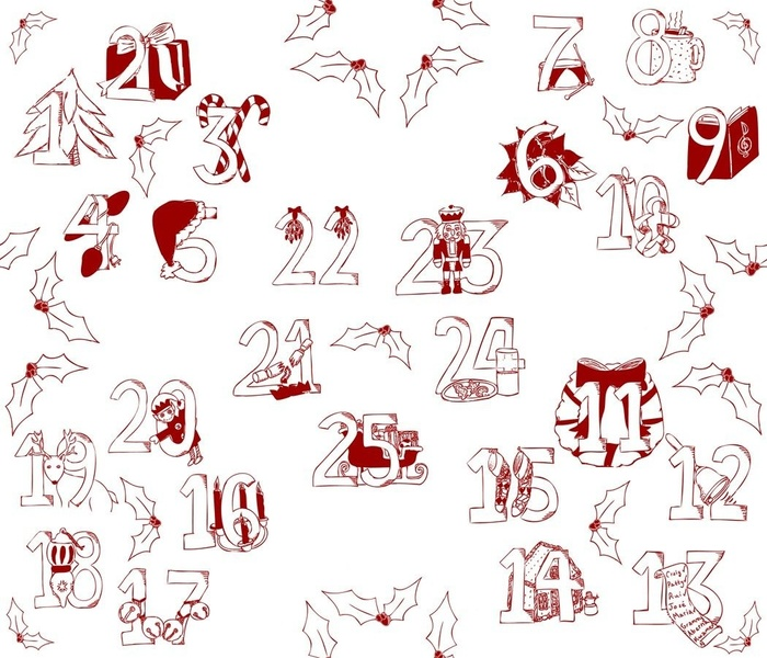 Advent Traditions Toile - Red