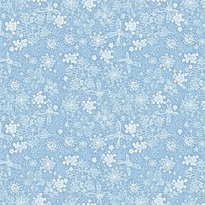 Holiday Snow Toile sky blue
