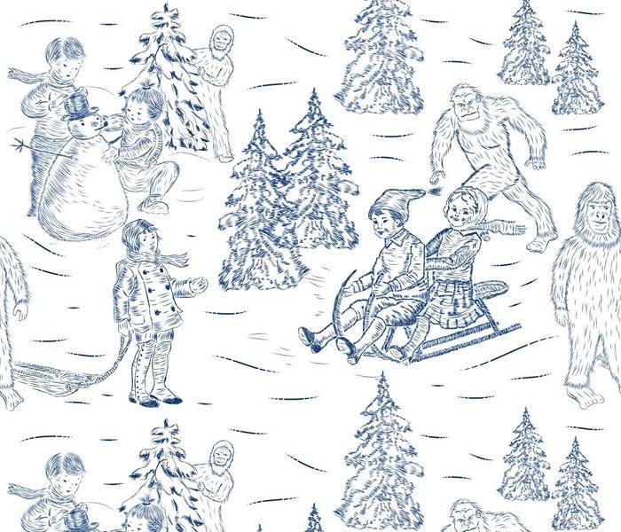 Vintage Winter Fun with Yetis