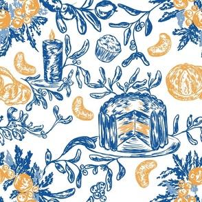 Blue_christmas_toile_with_oranges%2c_cake_and_mistletoe