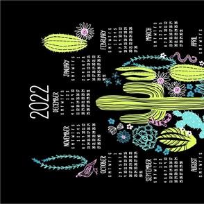 2022 Sonoran Desert Tea Towel Calendar