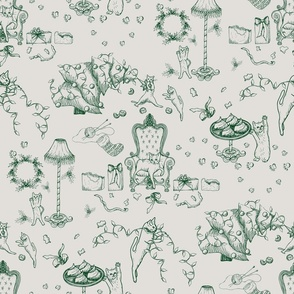 The_cat_ate_christmas_toile