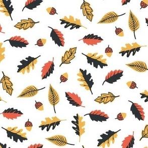 Autumn Leaves White