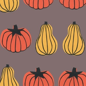 Pumpkin Stripes Mushroom Grey