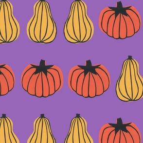Pumpkin Stripes Purple