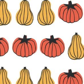 Pumpkin Stripes White