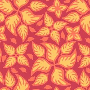 Firey Filigree Leaves