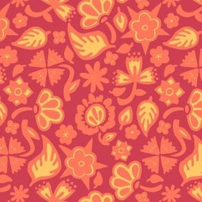 Firey Filigree Flowers