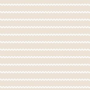 Rick Rack Stripes in white on beige vintage retro sewing