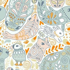 Arctic_ornament_animals_NEWCOLORS