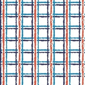Patriotic Plaid*    red white and blue patriotic independence day 4th of july stripes texture distressed geometric america vote election usa