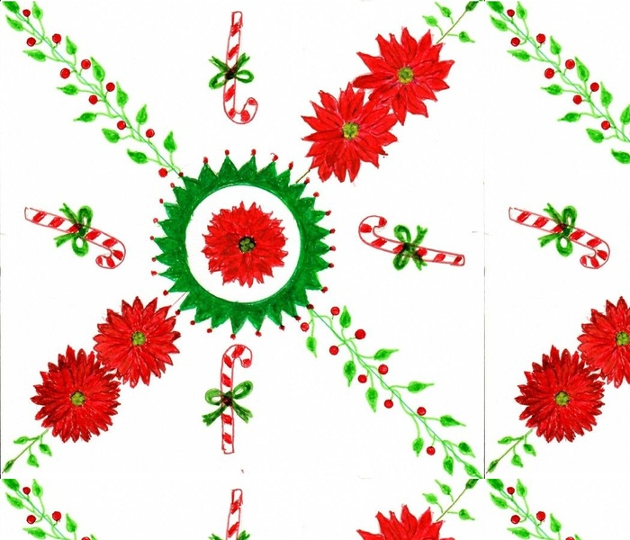 poinsettias and Candy Canes