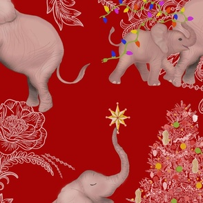 TOILE PACHYDERM HOLIDAY PREPARATIONS LARGE