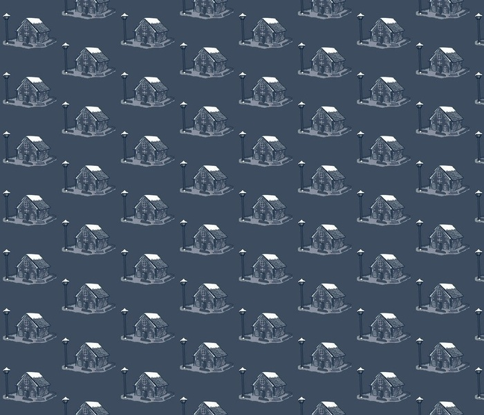 Gingerbread Toile - Navy