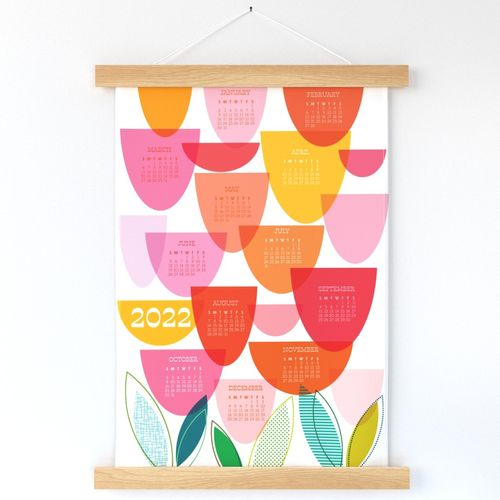 2022 Calendar Tea Towel - Time For Tulips
