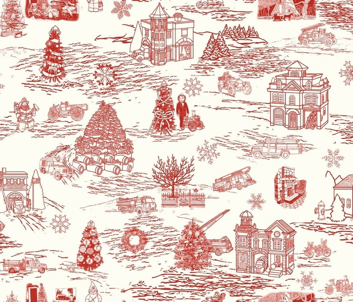 Firefighters Holiday Toile