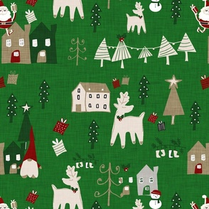 Holiday Toile Forest Green