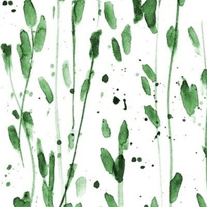 whimsical brush strokes forest - watercolor loose branches - painted splatter leaves trees nature for modern home decor a568-15