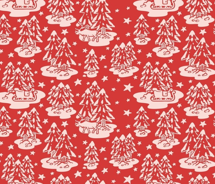 Red Christmas Toile