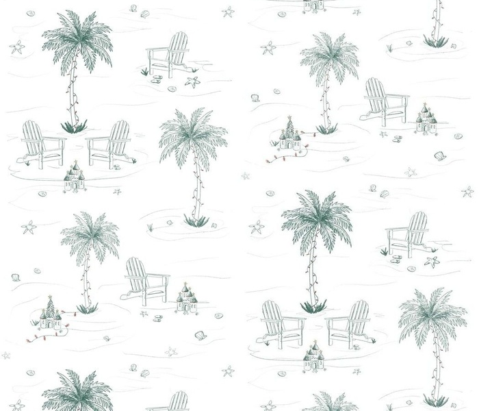 Christmas in Paradise toile