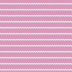 Retro Rick Rack Stripes in white on lavender purple vintage sewing