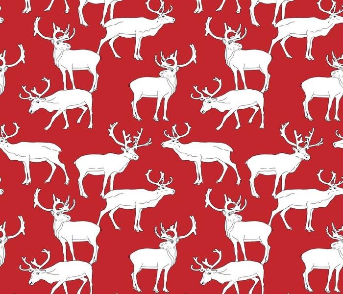 reindeers on red