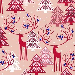 Wonderland Joy Christmas Holidays Traditions Toile