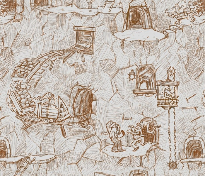 The cave of the merry dwarfs