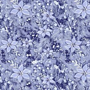 Winter flora toile