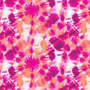 Ink splat hot Pink and orange Tie Dye (L)