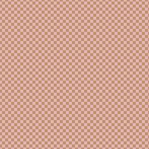 mini checker - neapolitan pink and brown