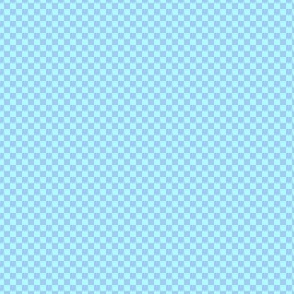 mini checker - pastel sweet blue and aqua