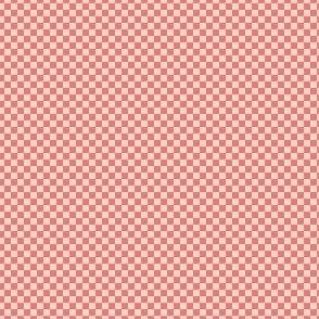 mini checker - coral and pink