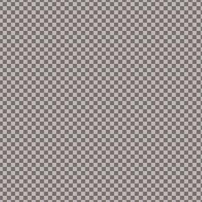 mini checker - warm grey