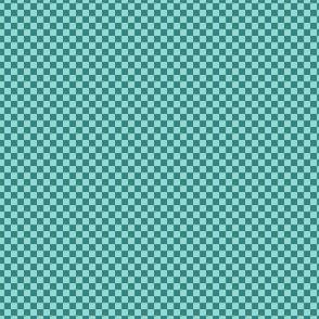 mini checker - teal and aqua
