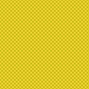 mini checker - wasabi and yellow