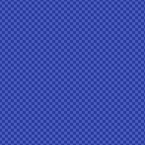 mini checker - morning blue
