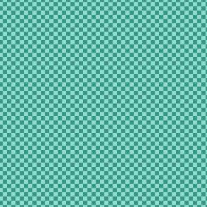 mini checker - oolong teal and aqua