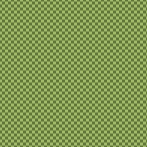 mini checker - oolong olive and green