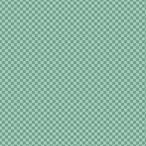 mini checker - spring mint green