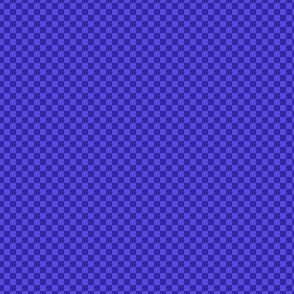mini checker - deep periwinkle blue