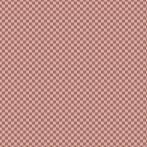 mini checker - terra cotta and pink
