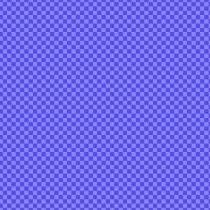 mini checker - periwinkle blue