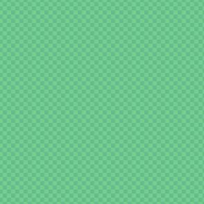 mini checker - cool shamrock green