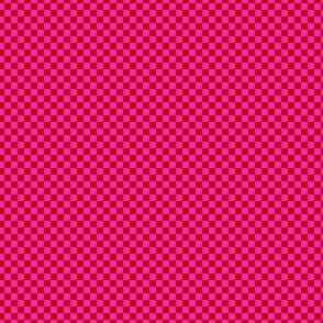 mini checker - red and lavender