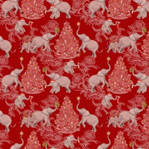 TOILE PACHYDERM HOLIDAY PREPS SMALL