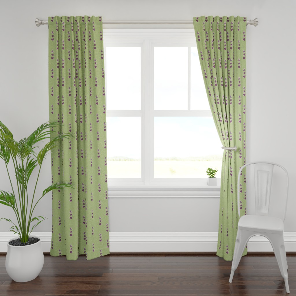 Plymouth Curtain Panel featuring Panel, green by wiccked