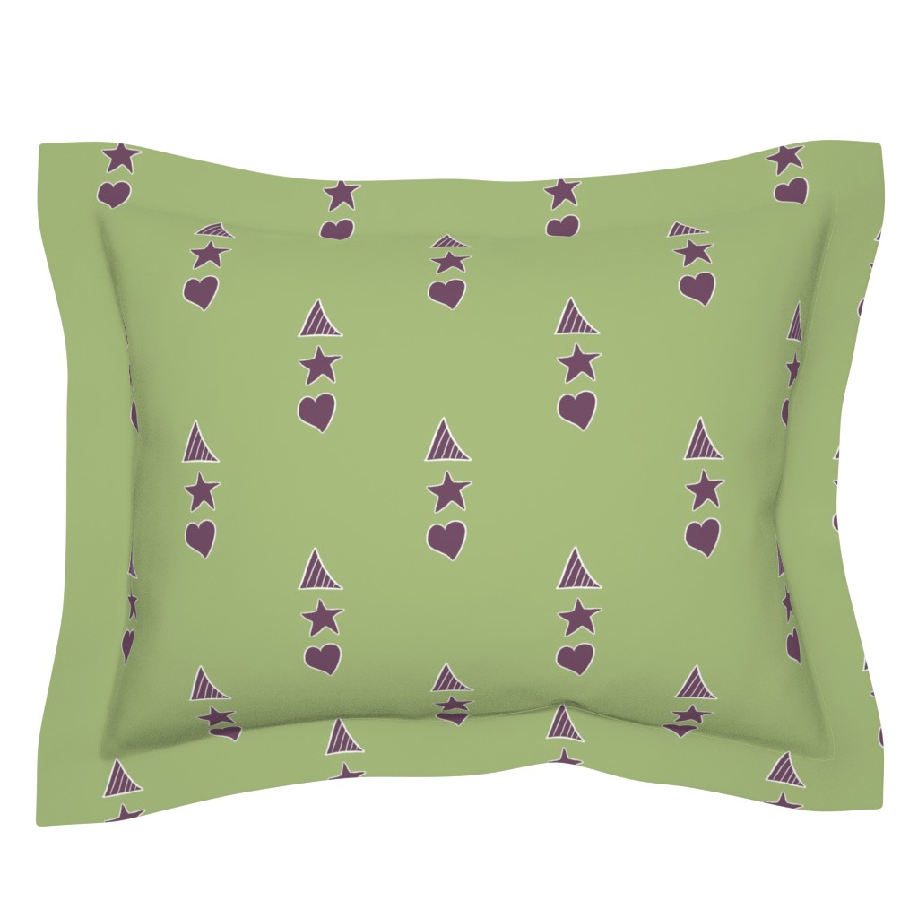 Sebright Pillow Sham featuring Panel, green by wiccked