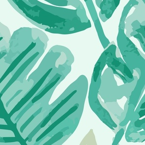JUMBO  // Tropical Green Jungle Wallaper