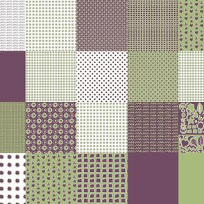 Cheater Quilt, Purple Peas